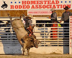 Ernie Courson - Pro Bull Rider - Homestead Rodeo 2020